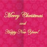 Рождество и новое Year& x27; предпосылка s с снежинками Стоковая Фотография