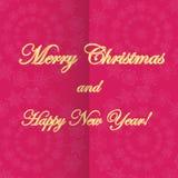 Рождество и новое Year& x27; предпосылка s с снежинками Стоковые Изображения
