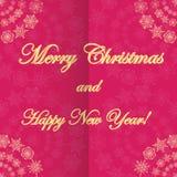 Рождество и новое Year& x27; предпосылка s с снежинками Стоковое Фото