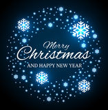 Рождество и Новые Годы гирлянды с снежинками иллюстрация штока