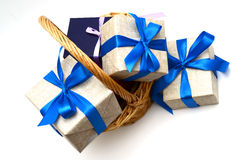 Рождество и Новые Годы коробки Стоковые Изображения RF