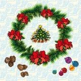 Рождество и Новые Годы праздников Стоковые Изображения RF