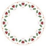 Рождество и счастливая иллюстрация концепции символа Нового Года иллюстрация штока