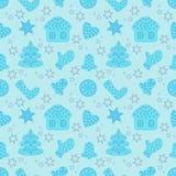 Рождество и счастливое украшение Нового Года бесплатная иллюстрация