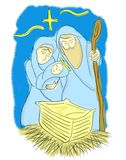 Рождество иллюстрации Иисуса Стоковые Изображения RF