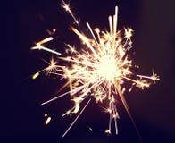 Рождество и newyear бенгальский огонь партии Стоковые Изображения