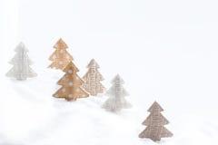 рождество карточки смешное орнаменты handbell рождества ветви коробки шарика Космос для текста Стоковые Фотографии RF