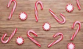 Рождество Конфета и тросточки пипермента Стоковая Фотография RF