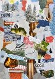 Рождество, коллаж доски настроения атмосферы зимы Стоковая Фотография