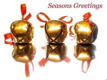 3 рождество колоколы Стоковая Фотография