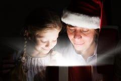 рождество кто-нибудь striped чулки удивляет tiptoe к xmas вала Стоковое Изображение RF