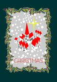 Рождество меньшая деревня в снеге бесплатная иллюстрация