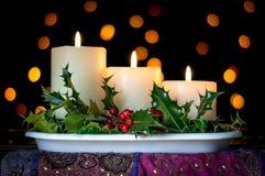 Рождество миражирует украшение с падубом и ягодами Стоковые Изображения