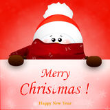 Рождество милое, снеговик и знак Стоковое Изображение