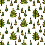 рождество моя версия вектора вала портфолио Безшовная предпосылка картины вектора Стоковая Фотография RF