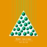 рождество моя версия вектора вала портфолио Вручая шарики Зеленый Стоковая Фотография RF