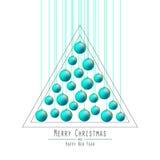 рождество моя версия вектора вала портфолио Вручая шарики Зеленый Стоковые Изображения