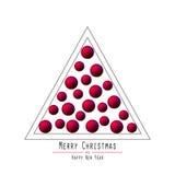 рождество моя версия вектора вала портфолио Вручая шарики Красный Стоковые Изображения RF