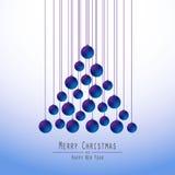 рождество моя версия вектора вала портфолио Вручая шарики bluets Стоковые Изображения RF