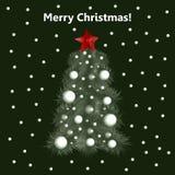 рождество моя версия вектора вала портфолио Дерево Новый Год Стоковая Фотография