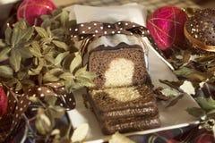 Рождество мраморного торта Стоковые Фото