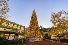 Рождество на торговом центре, Galleria Glendale стоковая фотография rf