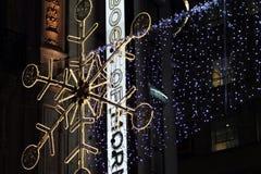 Рождество на улице Оксфорда Стоковые Изображения RF