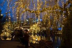 Рождество на Tivoli в Копенгагене Стоковое Изображение RF