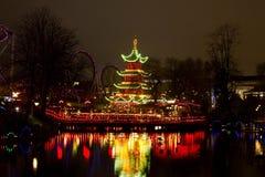 Рождество на Tivoli в Копенгагене Стоковые Изображения RF