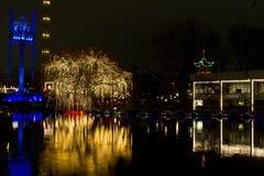 Рождество на Tivoli в Копенгагене Стоковые Изображения