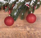 рождество орнаментирует красный цвет Стоковое фото RF