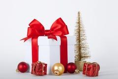 рождество орнаментирует настоящие моменты белые Стоковое Изображение RF