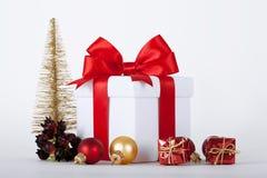 рождество орнаментирует настоящие моменты белые Стоковое фото RF
