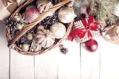рождество орнаментирует настоящие моменты Стоковое Изображение RF