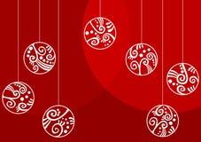 Рождество орнаментирует поздравительную открытку Стоковое фото RF