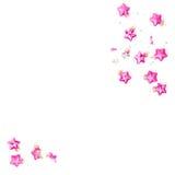 Рождество орнаментирует положение квартиры сломленных розовых безделушек минимальное Стоковое фото RF