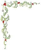 Рождество, падуб, выходит иллюстрация штока