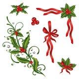 Рождество, падуб, петли бесплатная иллюстрация