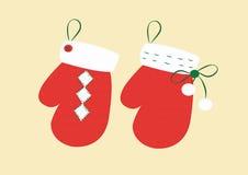 Рождество перчаток Стоковое Фото