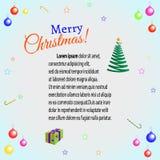 Рождество поздравительной открытки Стоковое Изображение
