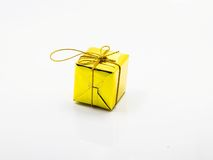 Рождество подарочной коробки золота Стоковые Фото