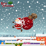 Рождество, предпосылка Стоковые Изображения