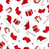 рождество предпосылки безшовное также вектор иллюстрации притяжки corel Стоковое Изображение RF
