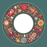 рождество предпосылки веселое Шаблон Textless Стоковое Изображение