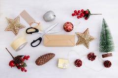 Рождество предпосылки взгляда верхнее Стоковое фото RF