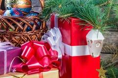 рождество 10 предпосылок Стоковые Фото
