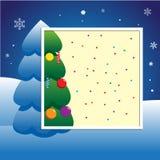 Рождество, плакат карточки приглашения партии Нового Года Стоковая Фотография RF