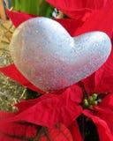 Рождество Роза с сердцем Стоковые Изображения RF