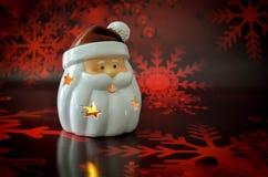 Рождество свечи Санта Клауса Стоковая Фотография