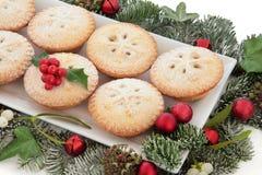 Рождество семенит пироги Стоковое Фото